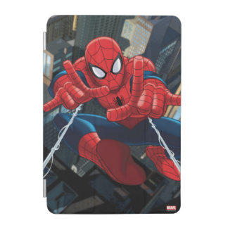 Spider-Man Shooting Web High Above City iPad Mini Cover