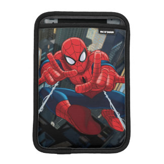 Spider-Man Shooting Web High Above City iPad Mini Sleeve