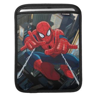 Spider-Man Shooting Web High Above City iPad Sleeves
