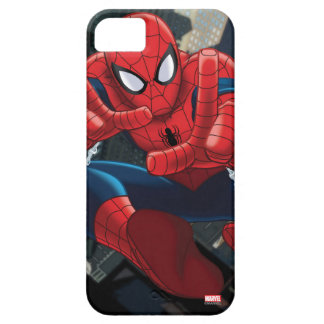 Spider-Man Shooting Web High Above City iPhone 5 Cover