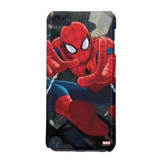 Spider-Man Shooting Web High Above City iPod Touch (5th Generation) Covers