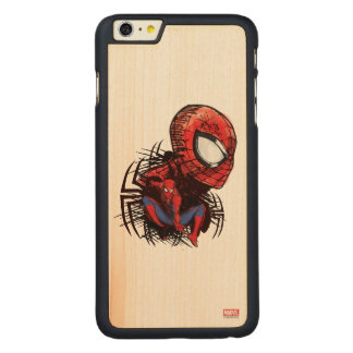 Spider-Man Sketched Marker Drawing Carved® Maple iPhone 6 Plus Case