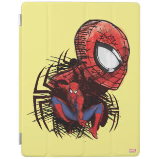Spider-Man Sketched Marker Drawing iPad Cover