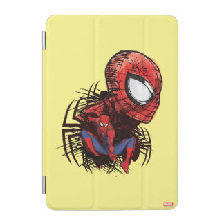 Spider-Man Sketched Marker Drawing iPad Mini Cover