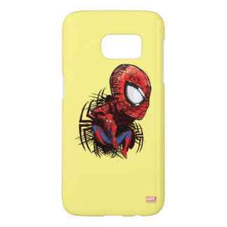 Spider-Man Sketched Marker Drawing Samsung Galaxy S7 Case