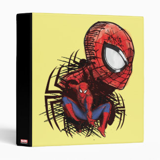 Spider-Man Sketched Marker Drawing Vinyl Binder