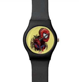 Spider-Man Sketched Marker Drawing Wrist Watch
