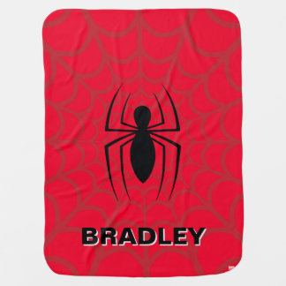 Spider-Man Skinny Spider Logo Baby Blanket