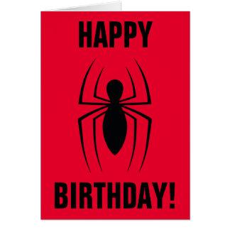 Spider-Man Skinny Spider Logo Card