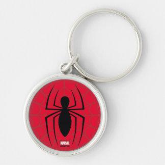 Spider-Man Skinny Spider Logo Keychain