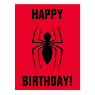 Spider-Man Skinny Spider Logo Postcard