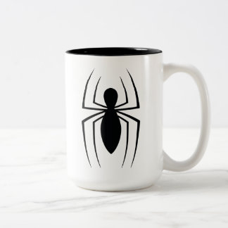 Spider-Man Skinny Spider Logo Two-Tone Coffee Mug