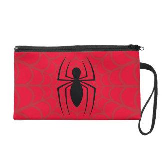 Spider-Man Skinny Spider Logo Wristlet