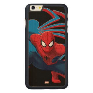 Spider-Man & Spider Character Art Carved® Maple iPhone 6 Plus Case