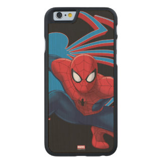 Spider-Man & Spider Character Art Carved® Maple iPhone 6 Slim Case