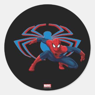 Spider-Man & Spider Character Art Classic Round Sticker