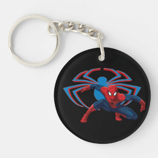 Spider-Man & Spider Character Art Double-Sided Round Acrylic Keychain