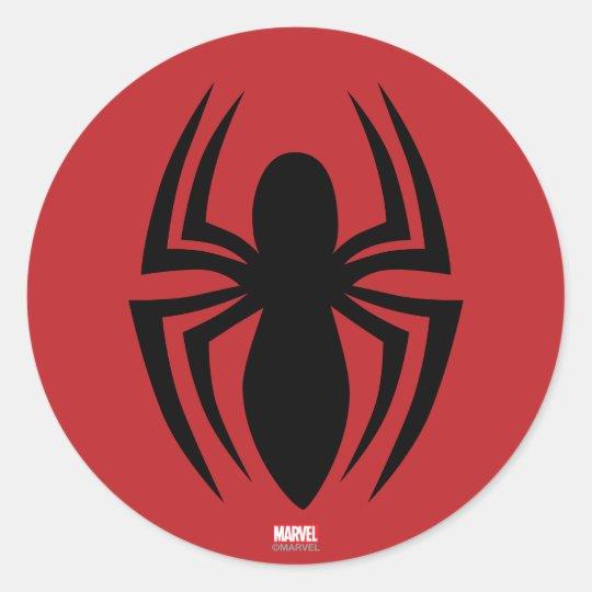 Spider Man Spider Logo Classic Round Sticker Zazzle