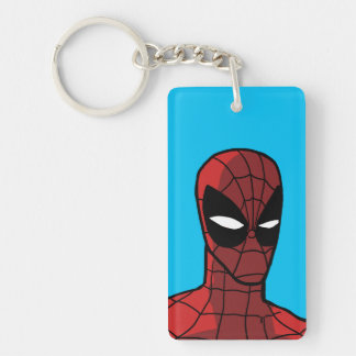 Spider-Man Stare Double-Sided Rectangular Acrylic Keychain