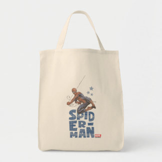 Spider-Man Swing and Stars Graphic