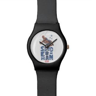 Spider-Man Swing and Stars Graphic Wrist Watch
