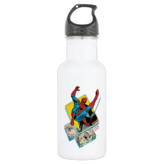 Spider-Man Swinging Out Of Comic Panels 532 Ml Water Bottle