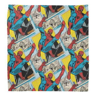 Spider-Man Swinging Out Of Comic Panels Bandana