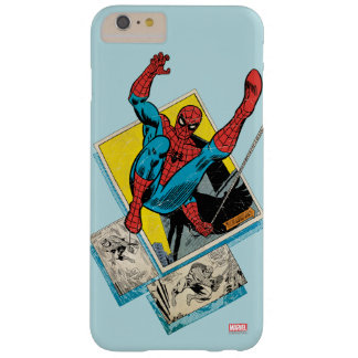 Spider-Man Swinging Out Of Comic Panels Barely There iPhone 6 Plus Case