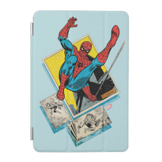 Spider-Man Swinging Out Of Comic Panels iPad Mini Cover