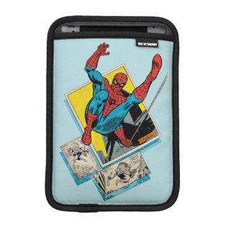 Spider-Man Swinging Out Of Comic Panels iPad Mini Sleeve