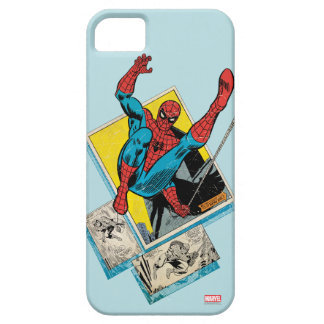 Spider-Man Swinging Out Of Comic Panels iPhone 5 Case