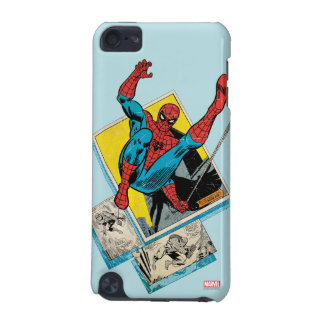 Spider-Man Swinging Out Of Comic Panels iPod Touch (5th Generation) Cover
