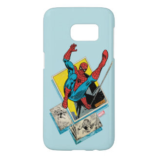 Spider-Man Swinging Out Of Comic Panels Samsung Galaxy S7 Case