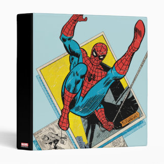 Spider-Man Swinging Out Of Comic Panels Vinyl Binder