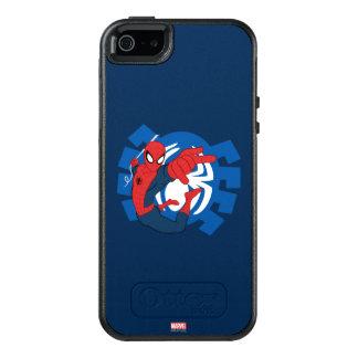 Spider-Man Swinging Over Blue Logo OtterBox iPhone 5/5s/SE Case
