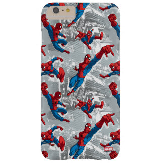 Spider-Man Swinging Over City Pattern Barely There iPhone 6 Plus Case