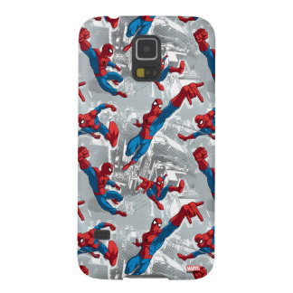 Spider-Man Swinging Over City Pattern Case For Galaxy S5