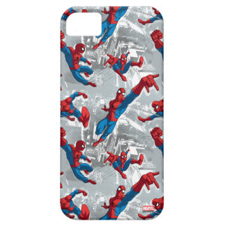 Spider-Man Swinging Over City Pattern iPhone 5 Covers
