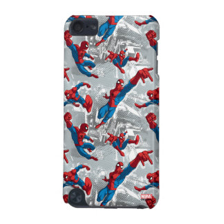 Spider-Man Swinging Over City Pattern iPod Touch 5G Case