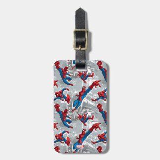 Spider-Man Swinging Over City Pattern Luggage Tag