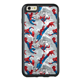 Spider-Man Swinging Over City Pattern OtterBox iPhone 6/6s Plus Case