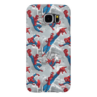 Spider-Man Swinging Over City Pattern Samsung Galaxy S6 Cases