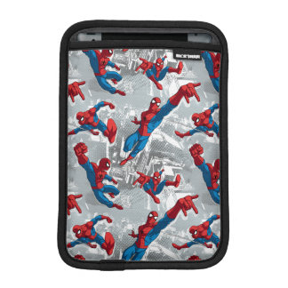 Spider-Man Swinging Over City Pattern Sleeve For iPad Mini