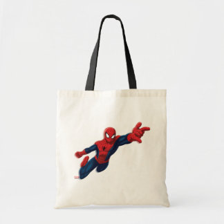 Spider-Man Swinging Through Downtown