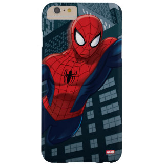 Spider-Man Swinging Through Downtown Barely There iPhone 6 Plus Case