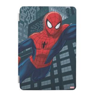 Spider-Man Swinging Through Downtown iPad Mini Cover