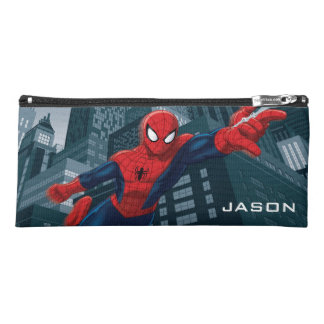 Spider-Man Swinging Through Downtown Pencil Case