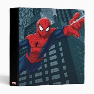 Spider-Man Swinging Through Downtown Vinyl Binder