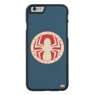 Spider-Man Team Heroes Emblem Carved® Maple iPhone 6 Case