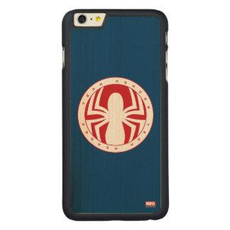 Spider-Man Team Heroes Emblem Carved® Maple iPhone 6 Plus Case